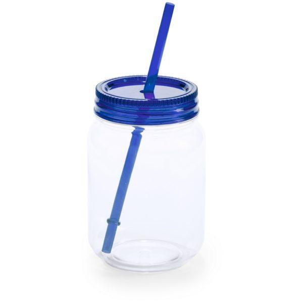 Plastmasa burciņa ar salmiņu