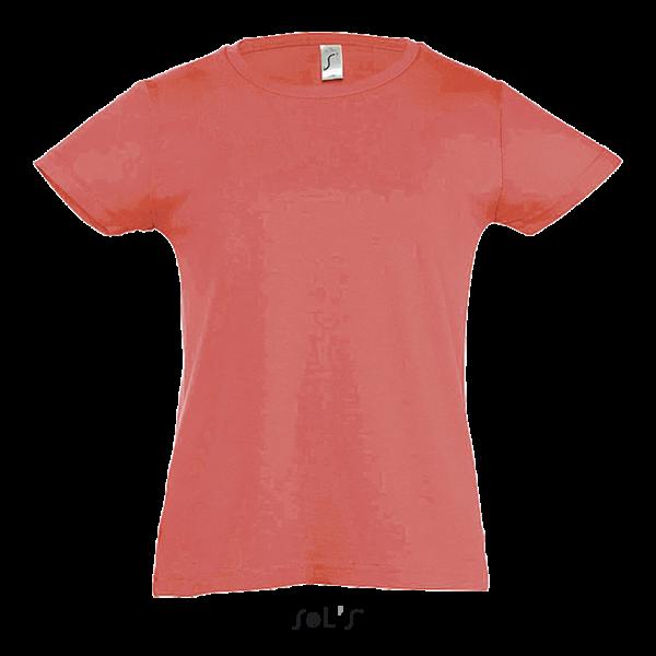 Vidēji biezs meiteņu T-krekls