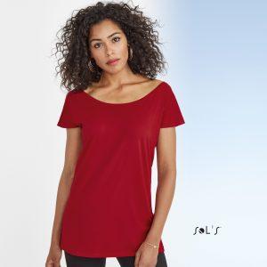 Viegla auduma sieviešu T-krekls