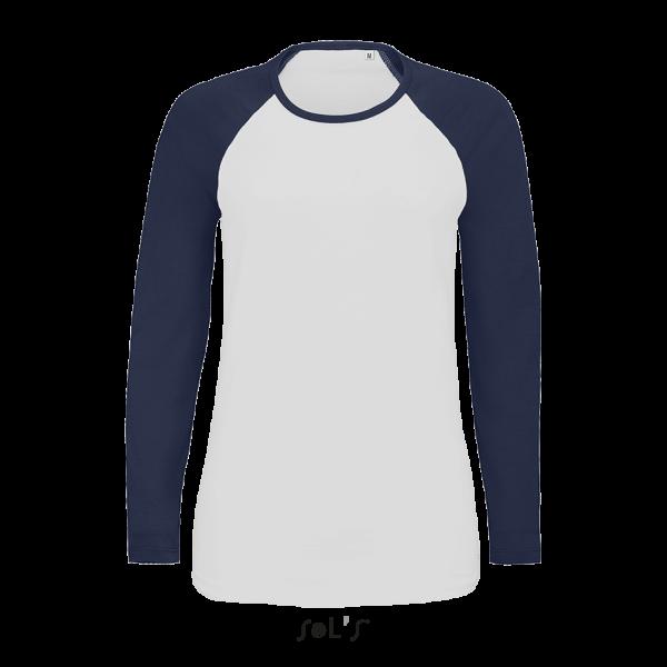 Sieviešu beisbola T-krekls ar garām piedurknēm