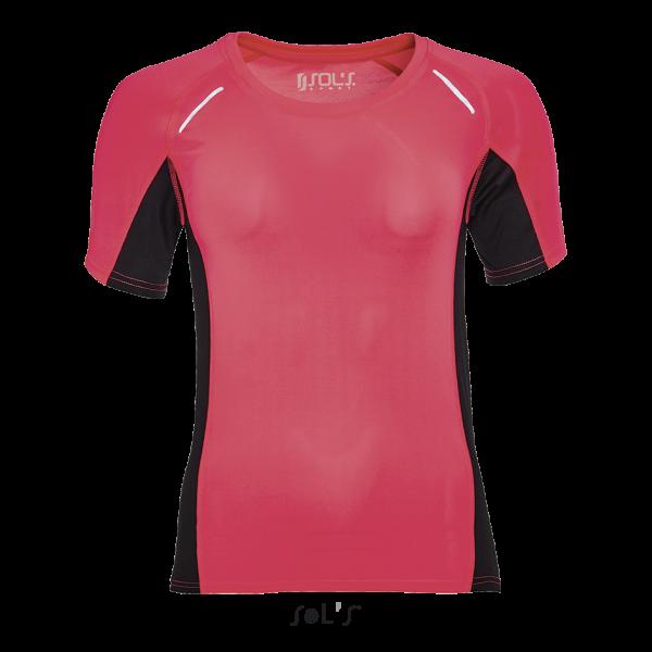 Sieviešu skriešanas T-krekls ar elastānu