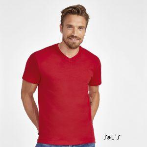 Sieviešu T-krekls ar dziļu V-veida izgriezumu