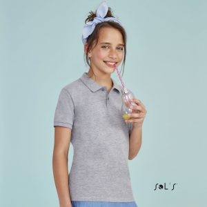 Sašaurināts bērnu polo krekls