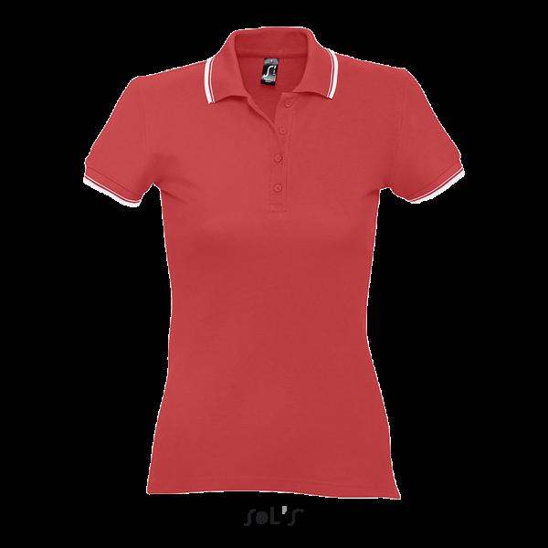 Sieviešu polo krekls ar kontrastlīniju