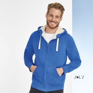 Unisex jaka ar kapuci un flīša oderi