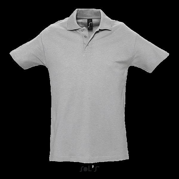 Bieza adījuma vīriešu polo krekls
