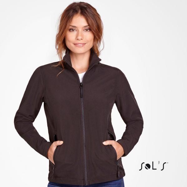Vidēji bieza sieviešu softshell jaka