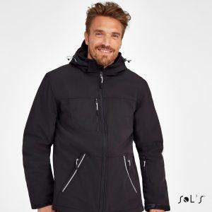 Vīriešu ziemas sofshell jaka