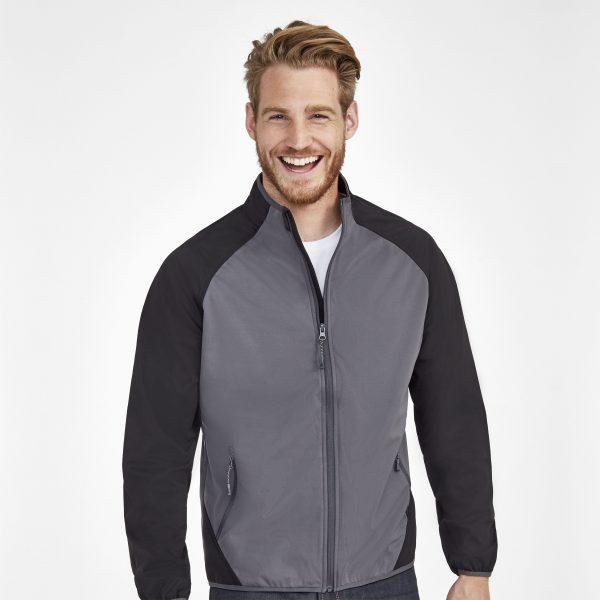 Vīriešu divkrāsu softshell jaka