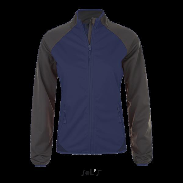 Sieviešu divkrāsu softshell jaka