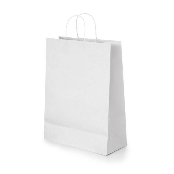 Balts papīra maisiņš 18x24x8 cm