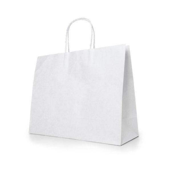 Balts papīra maisiņš 40x34x11 cm