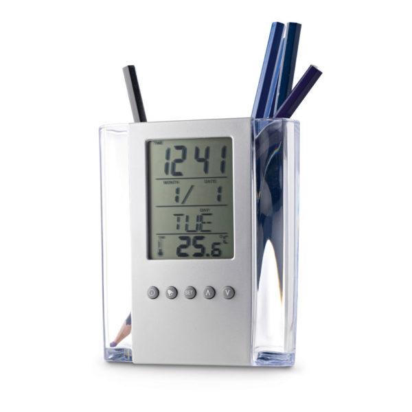 Pulkstenis ar pildspalvu turētāju