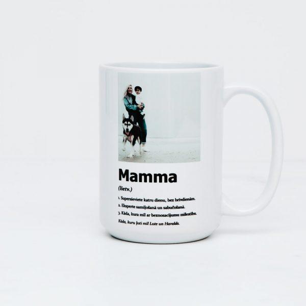 """Krūze """"Mamma ir..."""""""