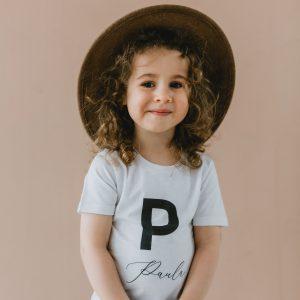 """Bērnu T-krekls """"Burts - vārds"""""""